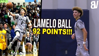 LaMelo Ball 92 Point Game FULL HIGHLIGHTS: 41 Points In 4th! Could NOT MISS ANYTHING!