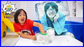 Frozen blubber ice water Easy DIY Experiments for kids!!
