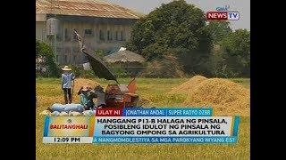 Hanggang P13-B halaga ng pinsala, posibleng idulot ng pinsala ng bagyo sa agrikultura