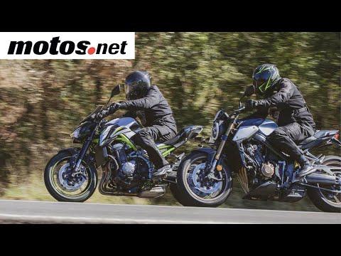 Comparativo Honda CB650R vs Kawasaki Z900 A2  / Prueba / Review en español