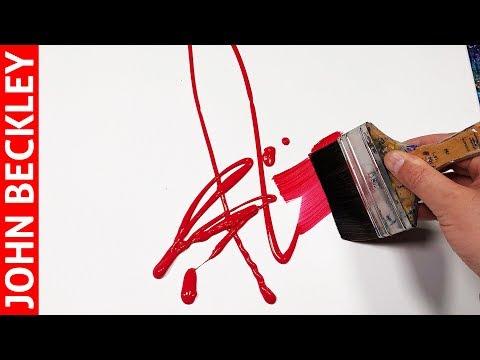 Peinture Abstraite Au Couteau à l'Acrylique | Ignis
