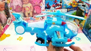 Play Toy Helicopter with Music and Colorful Light Happy Time to unbox New Toys