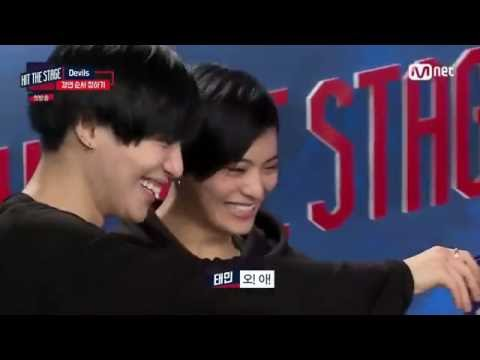 [Eng Sub] Hyoyeon tricks Taemin through his japanese dance partner (Hit the Stage EP01 Cut)