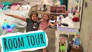 Room Tour Toys In Action Youtube Kids Channel Sisters Vlogs Barbie Makeup Glitter Bedroom Reveal IRL