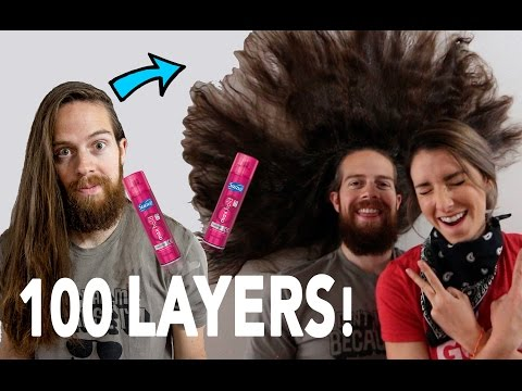 100 LAYERS OF HAIRSPRAY BEFORE CUTTING IT ALL OFF!!
