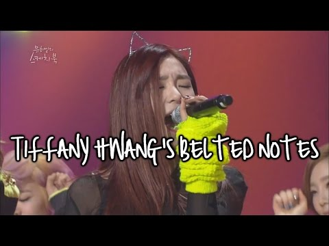 Tiffany Hwang's Live Belted Notes Compilation
