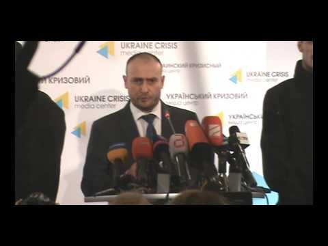 Прес-конференція лідера Правого Сектору Дмитра Яроша 8.03.2014