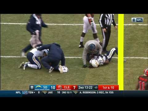 Duke Johnson Breaks Two Chargers Ankles Resulting in Huge Hit