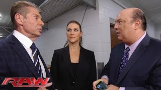 The McMahon family negotiates with Paul Heyman: Raw, January 11, 2016