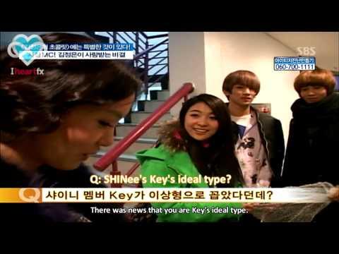 [HeartfxSubs] 100204 f(x) and SHINee with Kim Jung Eun after Chocolate Recording (en)