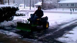 John Deere Zero Turn Snow Plow Kit Z425 Z225 Z445 Z465 3gp