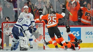 Flyers storm back with four unanswered goals in 3rd