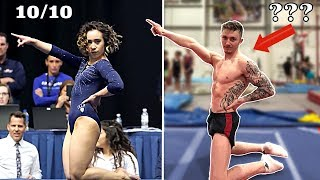 Attempting Katelyn Ohashi's Perfect Floor Routine! | Nile Wilson