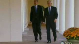 Bush hosts Obama for White House transition meeting