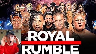 NEW WWE FAN REACTS TO EVERY ROYAL RUMBLE WIN!