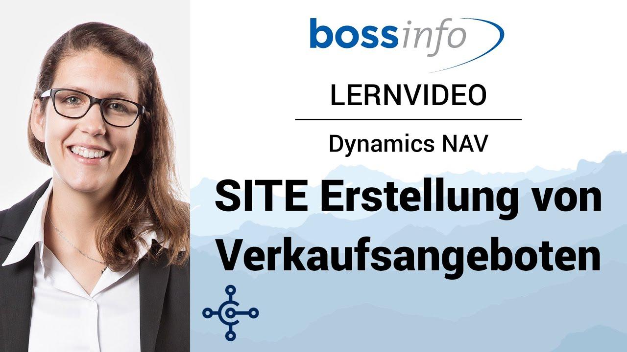Microsoft Dynamics NAV SITE – Verkaufsangebote erstellen