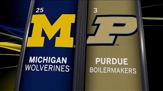 Michigan at Purdue - Men's Basketball Highlights