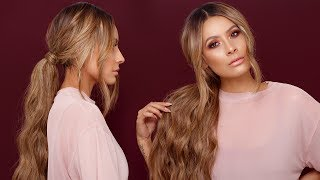 HOW TO: LONG MESSY PONYTAIL | DESI PERKINS