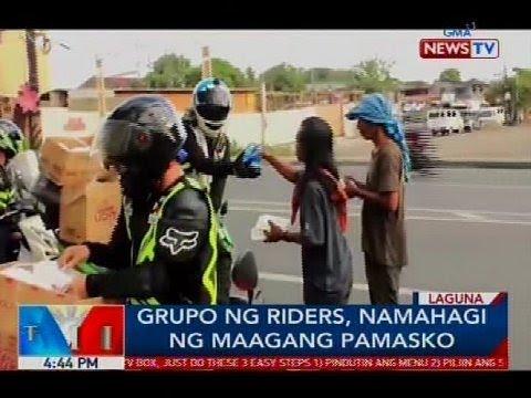 Grupo ng riders, namahagi ng maagang Pamasko