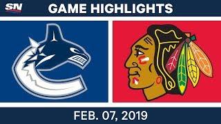 NHL Highlights | Canucks vs. Blackhawks - Feb. 7, 2019
