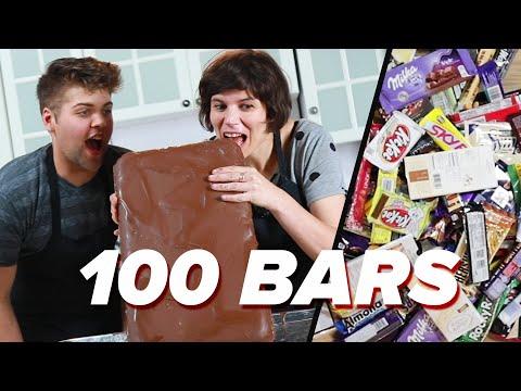 Melting 100 Chocolate Bars Into One Epic Bar