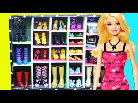 Crafts for Dolls: How to make a walk in shoe closet