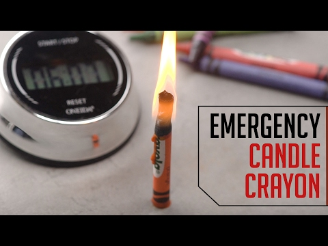 Emergency Candle Crayons