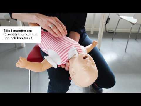 Så här gör du om ett spädbarn under 1 år sätter något i halsen och inte kan andas: