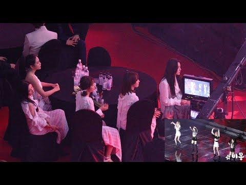 190123 Red Velvet Reaction to BLACKPINK (블랙핑크 무대보는 레드벨벳) 4K 직캠 by 비몽