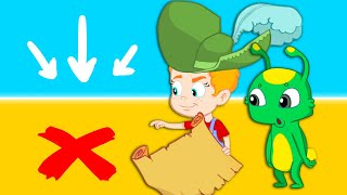 Groovy The Martian - Treasure Hunt with the magic Pirate Ship & the treasure map - Cartoons for kid