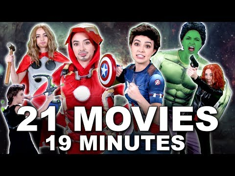 AVENGERS 101 Everything YOU NEED TO KNOW  - Merrell Twins (MCU) featuring Brie Larson | Karen Gillan