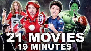 AVENGERS 101 Everything YOU NEED TO KNOW  - Merrell Twins (MCU) featuring Brie Larson   Karen Gillan