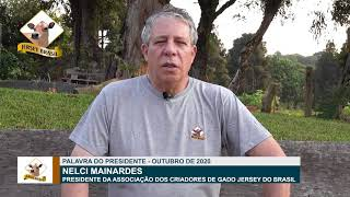 PALAVRA DO PRESIDENTE - JERSEY BRASIL - OUTUBRO 2020