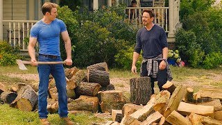 Tony Stark & Steve Rogers Chopping Wood Scene - Avengers: Age of Ultron (2015) Movie CLIP HD