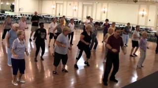 CUMBIA AMORE Line Dance (Ira's Delray Beach Class) -DEMO & WALK THRU.m2ts