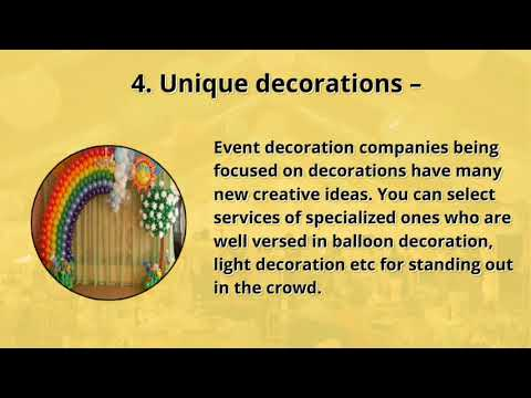 7 Big Reasons To Access Help From Event Decorating Company