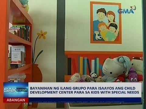 Bayanihan ng ilang grupo para isaayos ang child development center para sa kids with special needs