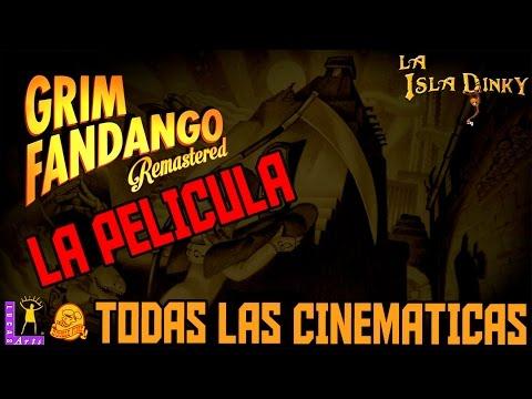 Grim Fandango - La Pelicula - Todas las Cinematicas - Double Fine - Remastered - PC