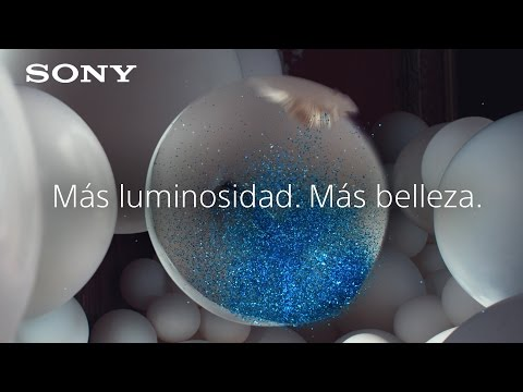 """Televisor HDR 4K de Sony BRAVIA - """"Más luminosidad. Más belleza."""" – globos brillantes"""