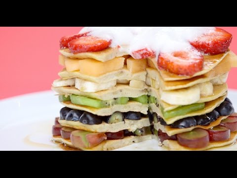 How to Make Healthy Rainbow Pancakes | Glow