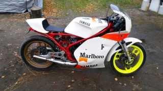 Yamaha RD 350 YPVS Umbau fertig mit neu überholter Gabel + WP Federn