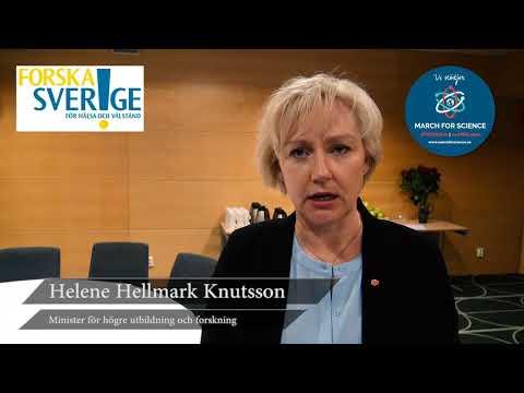 Varför stödjer du March for Science? Minister Helene Hellmark Knutsson