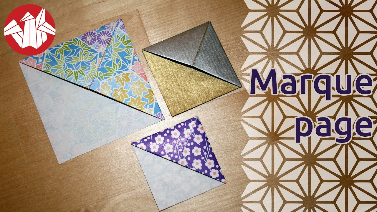 origami marque page bookmark youtube. Black Bedroom Furniture Sets. Home Design Ideas