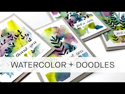 how to make 4 cards at once with silhouette doodles **for beginners