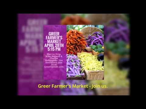 Thursday 5:15 p.m. @ Greer Farmer's Market