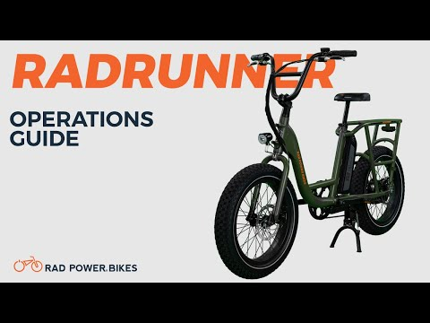 RadRunner Electric Utility Bike | Operations Guide
