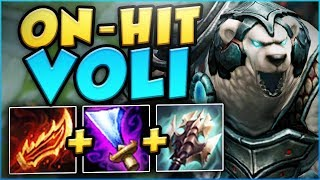 YOU KNOW RIOT WENT TOO FAR WITH THE BUFFS WHEN THIS WORKS.. ON-HIT VOLIBEAR TOP! - League of Legends