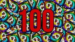 OTWIERAMY 100 SPIRAL LUCKY BLOCK - MINECRAFT: PRZYGODY Z FLOTHAREM #25