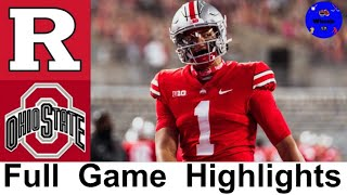 Rutgers vs #3 Ohio State Highlights | College Football Week 10 | 2020 College Football Highlights