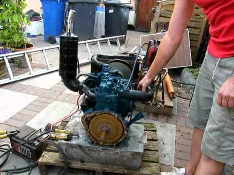 Kubota 2 Cylinder Engine Diesel Start Stop Youtube